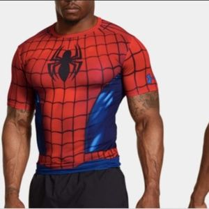 • Under Armour Mens Spiderman Compression Shirt •